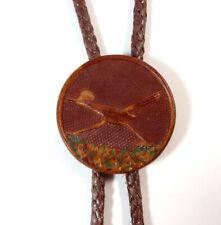 Roadrunner Bolo Tie Faux Leather