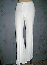 Claire Pettibone Pant Yoga Loungewear Santo Battenburg White XL NWT Color Flaw?