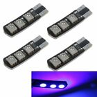 4PCS Canbus Error Free T10 5050 W5W 6SMD 6 LED Bulbs with Built-in Load Resistor