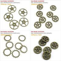 Antique Bronze Tone Jewelry Charms Cog Steampunk Gear Gearwheel Wheel Crafting