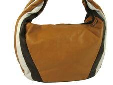 ECHT NAPPA LEDER Tasche ital. HOBO Shopper Handtasche Cognac Bunt NL965CB