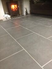 Brazilian Slate Tiles Flooring  15m2 600 x 400 10mm Thick Calibrated Nero Black