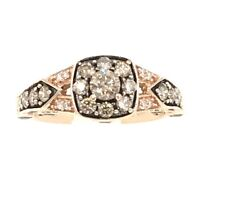 LeVian 14k Strawberry Rose Gold 1.00ct Chocolate & White Diamond Ring