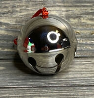 """Christmas Decoration Sheridan 2008 Silver Plated Round Sleigh Bell 3"""""""