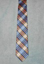 CHAPS BLUE YELLOW WHITE RED PLAID TIE   FREE SHIPPING