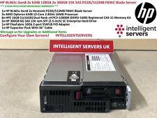 HP BL465c Gen8 6348 2x 128GB 1x 300GB 15K SAS 1x 10GB Servidor Blade 554FLB P220