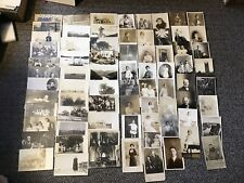 LOT OF 74 REAL PHOTO POSTCARDS Houses People Military Sailboats RPPC