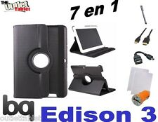 """PACK 7 IN 1 COVER SWIVEL FOR TABLET BQ EDISON 3 QUAD CORE 10.1"""" + ACCESSORIES"""