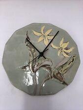 Woodland Fox Wall Clock With Flowers Working 10� Across