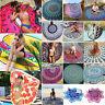 Bohoo Indian Mandala Tapestry Round Picnic Blanket Throw Beach Towel Yoga Mat
