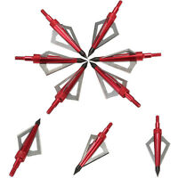 6x 3 Blade 100 Grain Broadheads Crossbows Bolt Arrow Heads Tip Point Archery Top