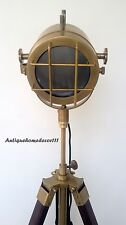 MODERN ANTIQUE LOOK SEARCHLIGHT W/ TRIPOD STAND SPOT LIGHT STUDIO TABLE LAMP