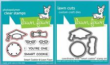 Lawn Fawn Photopolymer Clear Stamp & Die Combo ~ SMART COOKIE ~ LF1175, LF1176