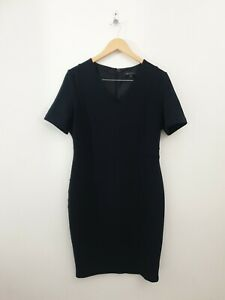 M&S Collection Size 16 Navy Blue Occasion Formal Work Office Business Dress