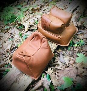 Leather Front & Rear Bag Set / Shooting Bags / Shooting Rests