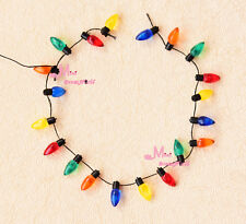 1/12 Dollhouse Miniature A String of multi-coloured plastic Christmas lights