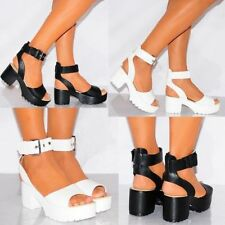 Low (3/4 in. to 1 1/2 in.) Block Ankle Strap Sandals & Flip Flops for Women