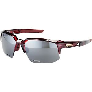 100% Sportcoupe Glasses- Cherry Palace - HiPER Silver Mirror Lens + Clear Lens