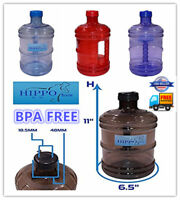 BPA FREE 1 Gallon Reusable Plastic Drinking Water Bottle Jug Container Canteen