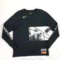 Nike Kyrie Irving Uncle Drew Long Sleeve Shirt Black BQ6214-010 Men's XXL 2XL