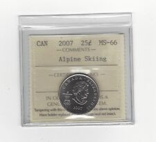 **2007 Alpine Skiing**ICCS Graded Canadian, 25 Cent, **MS-66**