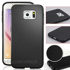 Ultra THIN FIT BLACK Soft CASE TPU COVER FOR GALAXY S6 w/Clear SCREEN PROTECTOR