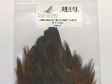 NATURE'S SPIRIT INDIA ROOSTER SADDLE PATCH HACKLE FOR FLY TYING PICK COLOR
