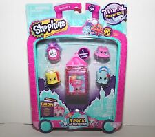 SHOPKINS SEASON 8 WORLD VACATION 5 PACK OF SHOPKINS 1 HIDDEN INSIDE !!