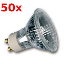 50x SYLVANIA Hi-Spot ES50 230V 50W GU10 Reflector Halógeno 25°Blanco Cálido