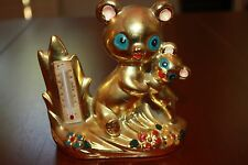 Vintage Artmark Panda Bear Cub Thermometer Gold Japan kitschy mid century