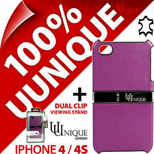 Uunique Piel Auténtica Funda carcasa para iPhone de Apple 4S + Carga USB Cable
