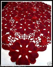 TABLECLOTH/TABLE RUNNER FOR YOUR HOME 11COLOURS AMAZING EMBROIDERED BIG FLOWERS
