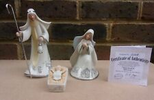 More details for hawthorne village silver blessings nativity - mary, joseph & baby jesus