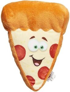 "Spot Ethical Pepperoni Pizza Fun Face Food Dog Toy 6.5"" with squeaker Soft Plush"