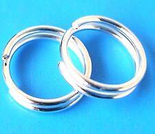 200 Plaqué Argent Findings 6 mm Split Rings