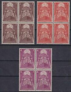 LUXEMBOURG 1957 United Europe set block of 4 MNH VF - cat. £ 340 / N6751