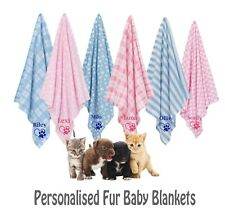 Personalised Pet Blankets Comforters Ideal For New Puppy or Kitten Ideal Gift