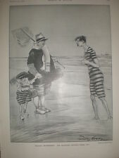The Question Obvious Been in? Dudley Hardy seaside cartoon 1906 old print