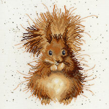 BOTHY THREADS THE NUTCRACKER SQUIRREL HANNAH DALE COUNTED CROSS STITCH KIT XHD14
