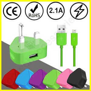 100% Genuine CE Charger Plug & USB Cable For Apple IPhone X 8 7 6 6+ SE(2020) XS