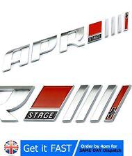 APR III 3 + per VW AUDI BADGE EMBLEMA Logo Cromato Auto Adesivo R8 RS A3 A4 Q5 GOLF