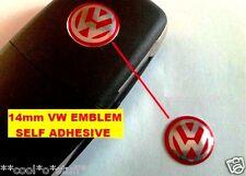 254- VOLKSWAGEN VW LOGO REMOTE KEY FOB MONOGRAM EMBLEM BADGE POLO VENTO GTI RED