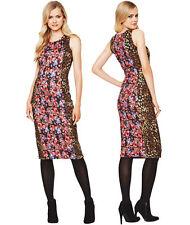 Definitions Floral & Animal Print Bodycon Dress Size 10 BNWT B2