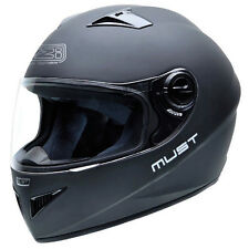 Casco moto integral NZI MUST II MATT BLACK talla S
