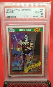 """1990 Marvel Universe Nomad """"Rookies"""" PSA 10 GEM MINT Impel #86 RC Rookie"""