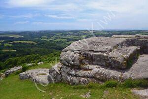 Devil's Rocks Dewerstone Dartmoor Devon Photo Art Print Canvas (UK)