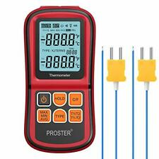 Proster Digital Dual Channel Thermometer + 2 K-type Thermocouples + LCD light