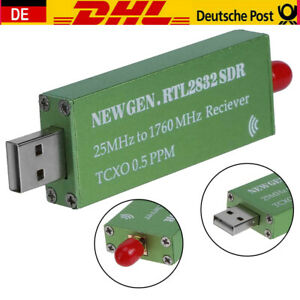 Premium USB RTL-SDR mit 0,5 ppm TCXO Metallgehäuse SMA R820T2 RTL2832U Empfänger
