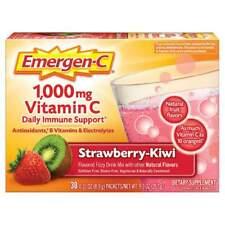 EMERGEN-C 1000 Mg Vitamin C STRAWBERRY-KIWI Daily Immune Support 30 PACKETS