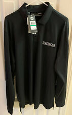 New Under Armour Performance Mens Large Black Loose Heatgear Long Sleeve Polo